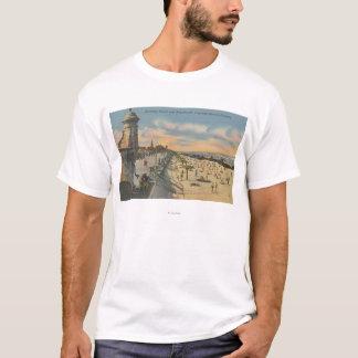 Daytona Beach, FL - Boardwalk View of Beach T-Shirt
