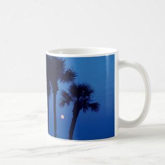 Daytona Beach FL Tropical Palm Tree Moon Mug