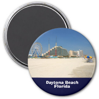 daytona beach florida 7.5 cm round magnet