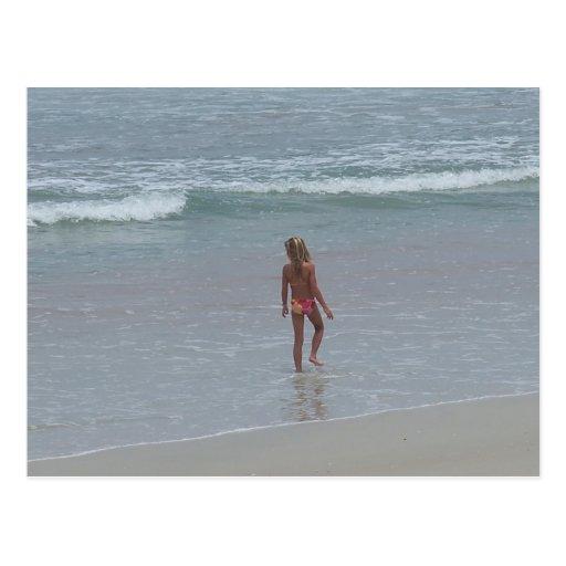 Daytona Beach Florida Bikini Girl Post card FL
