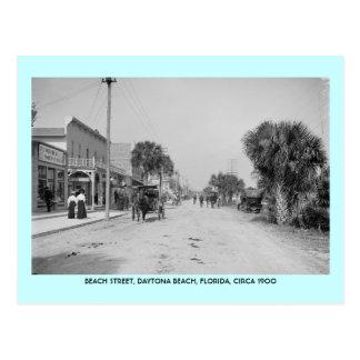 Daytona Beach Florida circa 1900 street scene Postcards