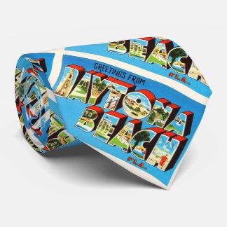 Daytona Beach Florida FL Vintage Travel Souvenir Tie