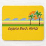 Daytona Beach Florida RETRO Tshirt Mouse Pad