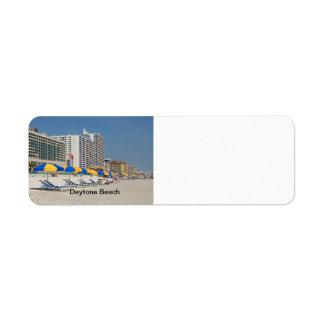 Daytona Beach Florida Return Address Label
