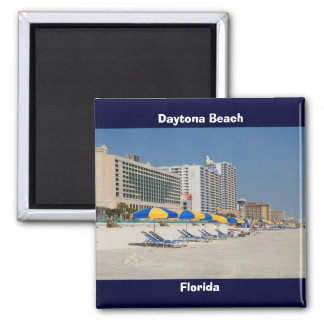 Daytona Beach Florida Square Magnet