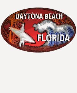 Daytona Beach Florida surfer art ladies shirt