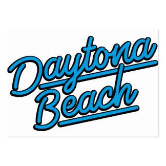 Daytona Beach in cyan Business Card Template