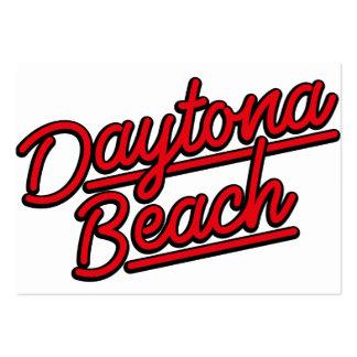 Daytona Beach in red Business Card Templates