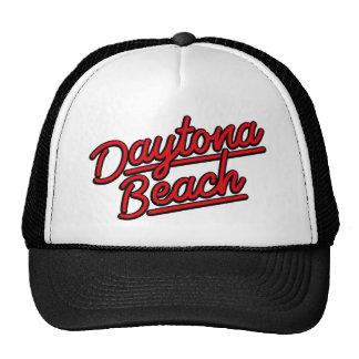 Daytona Beach in red Mesh Hat