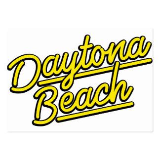 Daytona Beach in yellow Business Card Templates