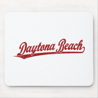 Daytona Beach script logo in red Mouse Pad