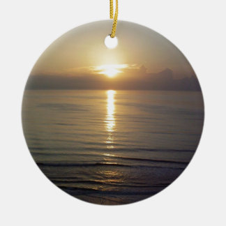 Daytona Beach sunrise Christmas Ornament