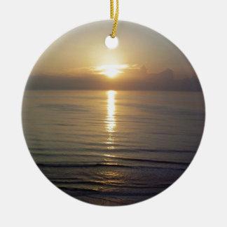 Daytona Beach sunrise Round Ceramic Decoration