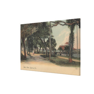Daytona, Florida - View of Beach Street Canvas Print