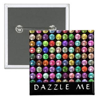 DAZZLE 15 CM SQUARE BADGE