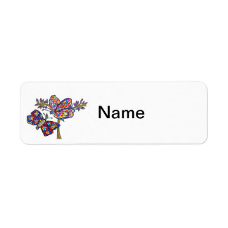 Dazzle Butterflies Return Address Label