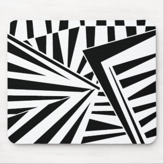 dazzle camouflage (black) mouse pad