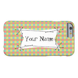 Dazzle Check 'Name' iPhone 6 case horizontal