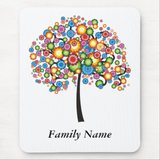 Dazzle Family Tree - Customize Mouse Mat
