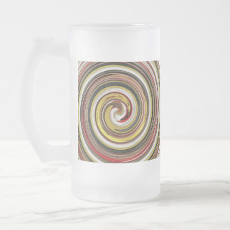 dazzle frosted glass beer mug