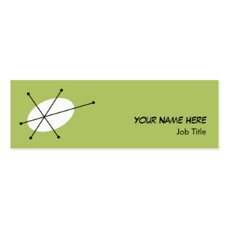 Dazzle Green business card skinny