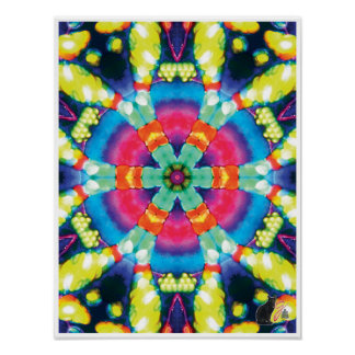 Dazzle Kinetic Collage Kaleidoscope Poster