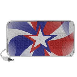 Dazzle Me Patriotic iPhone Speaker
