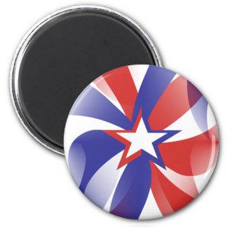 Dazzle Me Patriotic Refrigerator Magnet