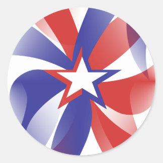 Dazzle Me Patriotic Round Sticker