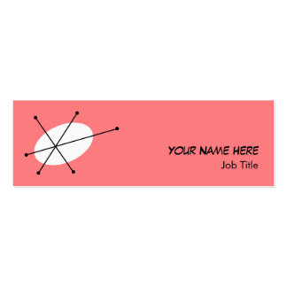Dazzle Pink business card skinny