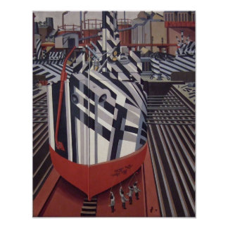 "Dazzle-ships In Drydock poster 13""x16"""