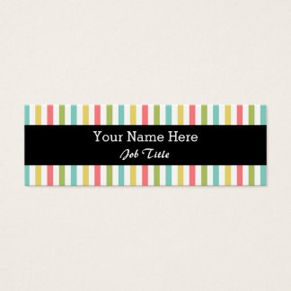Dazzle Stripe Classic black skinny Mini Business Card