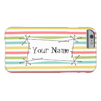 Dazzle Stripe Classic Name iPhone 6 horizontal Barely There iPhone 6 Case