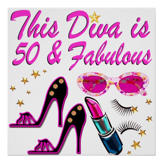 DAZZLING 50TH DIVA POSTER