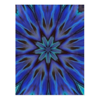 Dazzling Blue Abalone Mother of Pearl Mandala Postcards