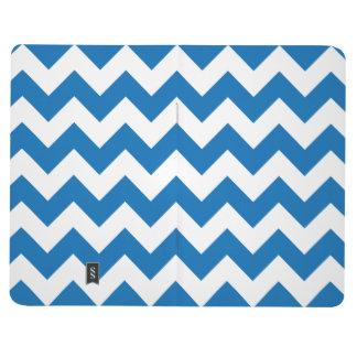 Dazzling Blue Chevron Zigzag Journals