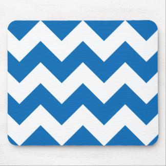 Dazzling Blue Chevron Zigzag Mouse Pad