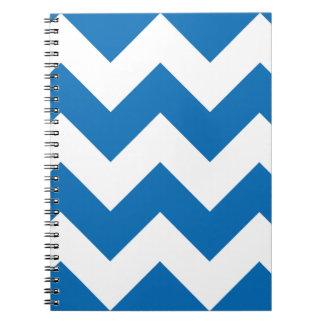 Dazzling Blue Chevron Zigzag Notepad Spiral Note Book