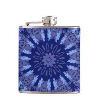 Dazzling Blue Crazy Daisy Kaleidoscope Flask