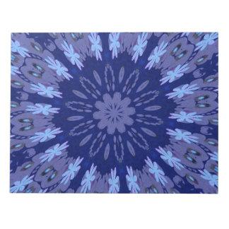 Dazzling Blue Crazy Daisy Kaleidoscope Note Pad