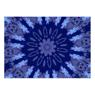 Dazzling Blue Crazy Daisy Kaleidoscope Pack Of Chubby Business Cards