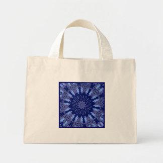 Dazzling Blue Crazy Daisy Kaleidoscope Small Mini Tote Bag