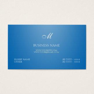 Dazzling Blue Elegant and Monogram
