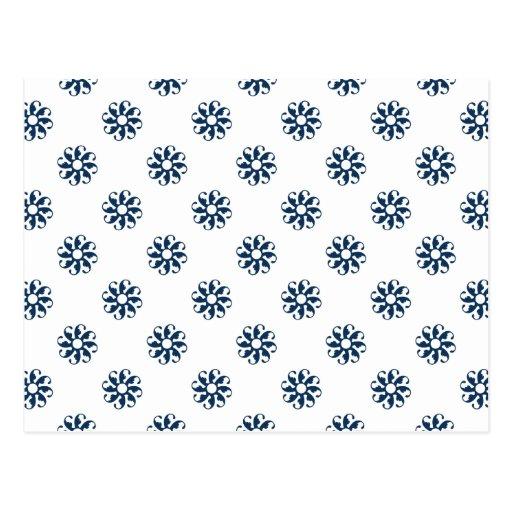 Dazzling Blue Flower 7 Postcards