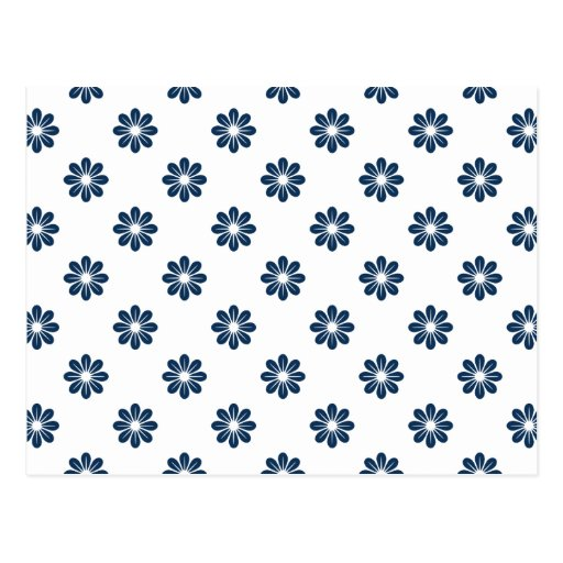 Dazzling Blue Flower 8 Post Card