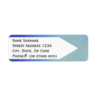 Dazzling Blue Ombre Glitter Sand Look Dark Light Return Address Label