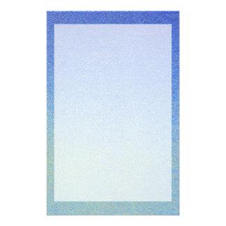 Dazzling Blue Ombre Glitter Sand Look Dark Light Stationery Design