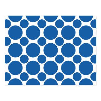 Dazzling Blue Polka Dot 2 Postcard