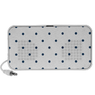 Dazzling Blue Polkadots Small Laptop Speakers