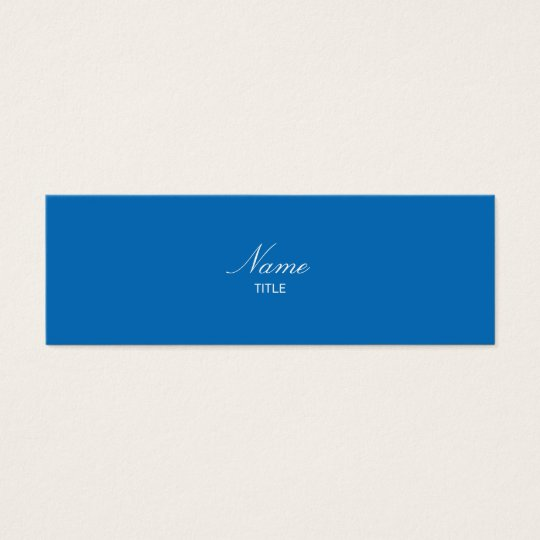 Dazzling Blue Small Elegante Mini Business Card